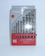 Сверло по металлу (наборы) Haisser от 1-10 мм 10 шт.