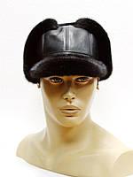 """Норковая мужская меховая шапка с  козырьком """"Мячик""""."""