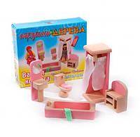 Набор мебели для кукол Ванная комната, Мир деревянных игрушек