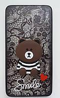Чехол Мишка Smile Meizu M6 Note (Black)