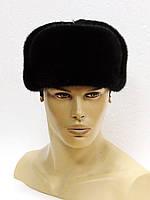 Норковая мужская меховая шапка, комбинированная.