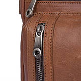 Удобная мужская кожаная сумка коричневая 1019B, фото 5