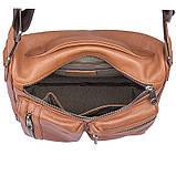 Удобная мужская кожаная сумка коричневая 1019B, фото 7