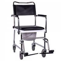 Кресло-каталка с санитарным оснащением «JBS» OSD-JBS367A, Стул-туалет для инвалидов