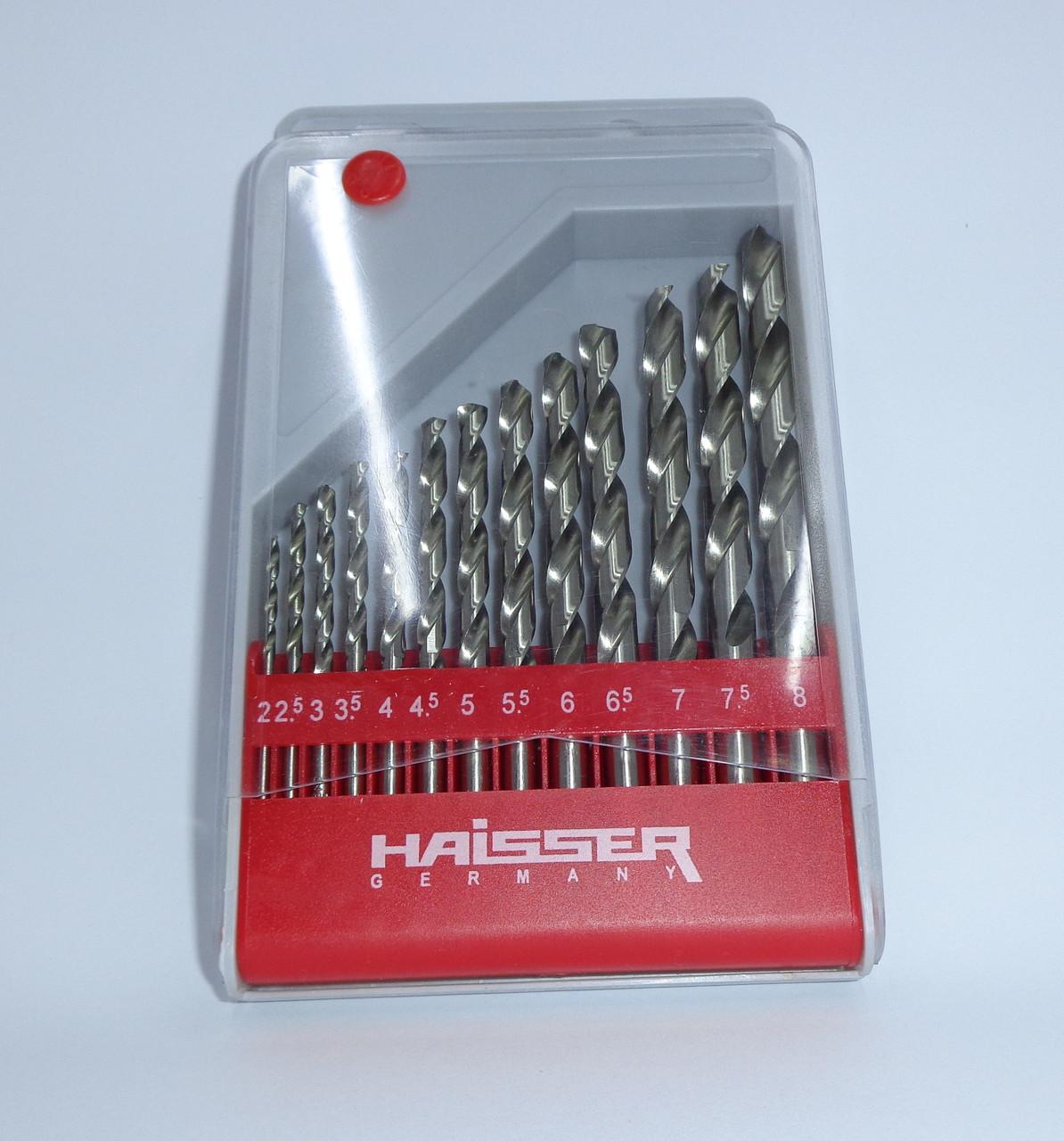 Сверло по металлу (наборы) Haisser от 2-8 мм 13 шт.