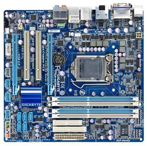 "Материнская плата Gigabyte H55M-UD2H s.1156 DDR3 Б/У ""Over-Stock"""