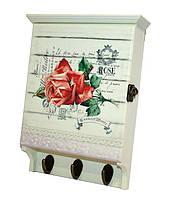 """Настенная ключница """"Роза"""" Размеры: 27-18-6 см."""