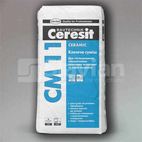 Клейова суміш Ceresit СМ-11 «Ceramic»,25кг