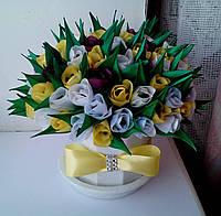 """Настольная сувенирная/подарочная цветочная композиция """"Весенний букет"""""""