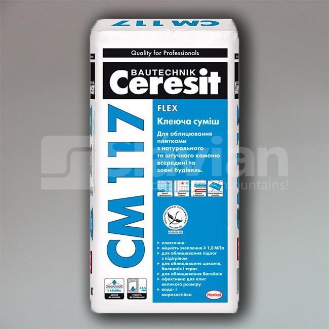 Клеевая смесь Ceresit СМ-117 «Flex», 25кг
