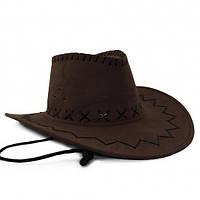Шляпа Ковбоя замша (коричневая)