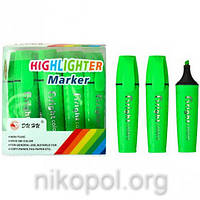 Текстовыделитель Bright-colors JH-700, зеленый