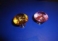 Ручка мебельная стекло сирень + желтая 30мм  , фото 1