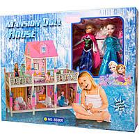 """Кукольный дом 66906 """"Холодное сердце"""" с куклами,мебелью и аксес.кор.71*14*56 /3/"""