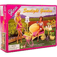 """Мебель """"Gloria"""" 9926 (36шт/3) для сада,скамейка,столик,тележка садовая,лейка..,в кор.25*19см"""