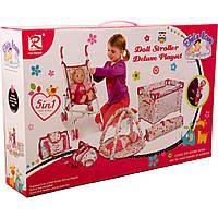 Набір для дівчаток (візочок, манеж, килимок, кошик) коробка 86866 р.60*12*39,5 см
