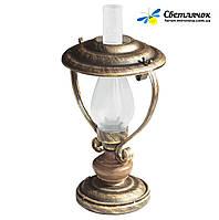 """Настольная лампа в стиле лофт """"Керосинка"""" старая бронза"""