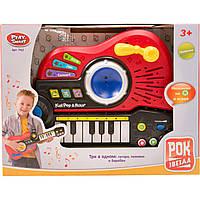 "Гитара PLAY SMART 7163 ""Рок-звезда"" 3в1 гитара-орган-барабан батар.кор.36*8*28 ш.к./12/"