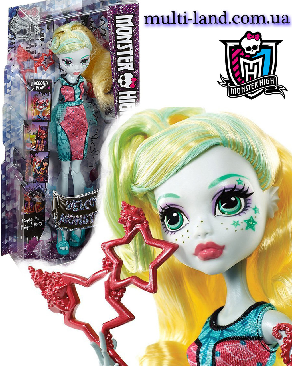 Лагуна Блю Кукла Монстер Хай серии Школа Монстров Танец без страха, Monster High Dance The Fright Away Lagoona