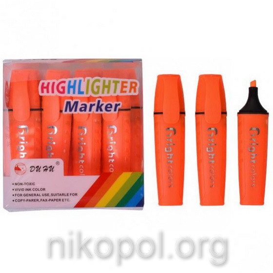Текстовыделитель Bright-colors JH-700, оранжевый