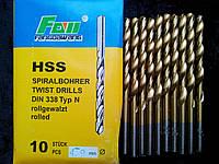 Сверло по металлу с титановым напылением диаметр 4,9
