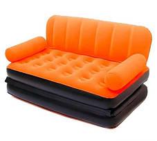 Надувной диван трансформер велюровый Bestway 67356 с электронасосом, фото 3