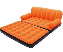 Надувной диван трансформер велюровый Bestway 67356 с электронасосом, фото 2