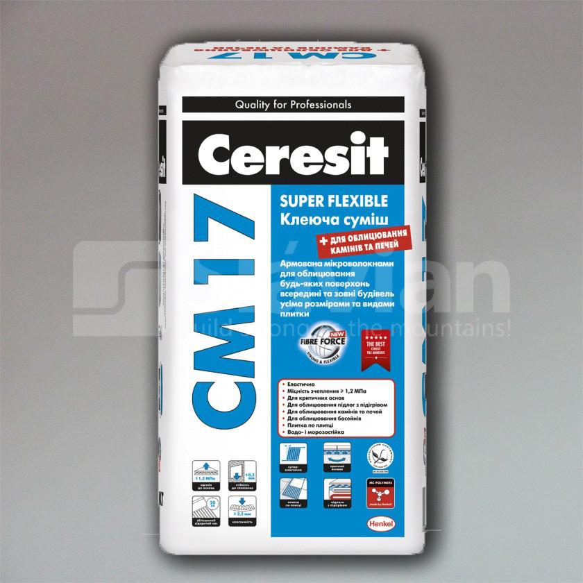 Клеевая смесь Ceresit СМ-17 «Super flexible»,25кг