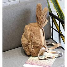 Меховой женский рюкзак Bobby Bunny коричневый eps-8014, фото 3