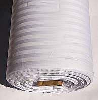 Ткань Турция сатин страйп 1*1 белый 240 ширина 83 tel №30