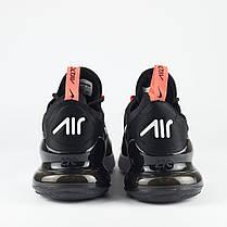 Мужские кроссовки Nike Air Max 270 темно-серые топ реплика, фото 2