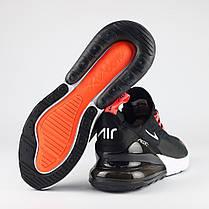 Мужские кроссовки Nike Air Max 270 темно-серые топ реплика, фото 3