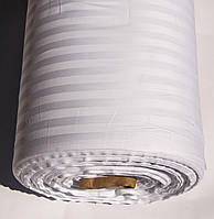 Ткань Турция сатин страйп 1*1 белый 185 ширина