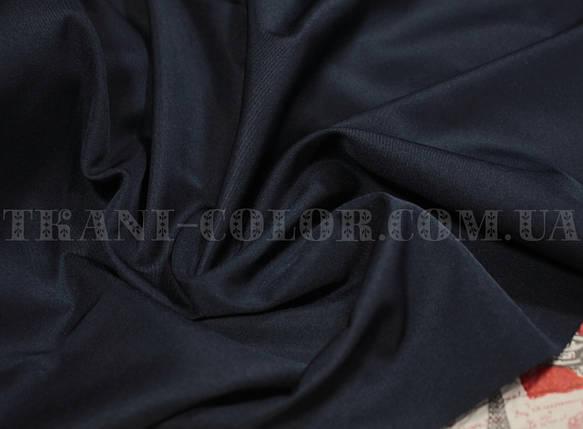 Костюмная ткань коттон мемори темно-синий, фото 2