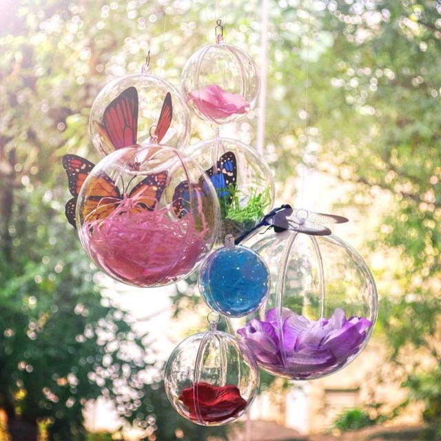 Шар пластиковый прозрачный для декора