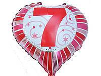 Шар воздушный фольгированный цифра 7