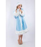 Костюм Снегурочки для взрослого, купить костюм карнавальный оптом и в розницу MK 1408 KRK-0004