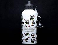 """Бутилка для води із нержавіючої сталі """"Панди"""" 600 мл"""