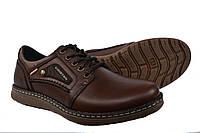 Туфли мужские кожаные Kristan Brown на шнурках, фото 1