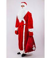 Костюм Деда Мороза взрослый, купить костюм карнавальный оптом и в розницу MK 1408 KRK-0008