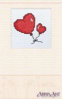 """Набор для создания открытки """"Валентинка сердечка"""" (80 на 80мм) AOH-002"""
