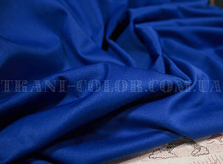 Костюмная ткань коттон мемори синий электрик