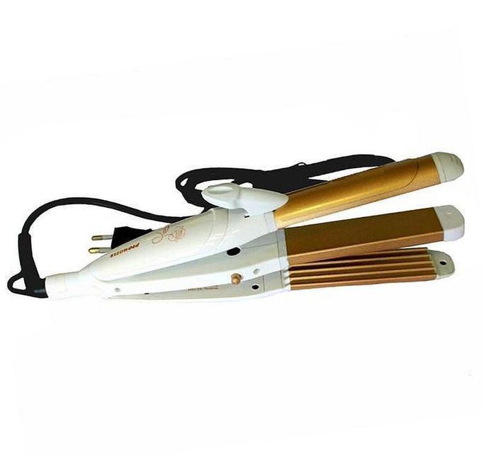 3 в 1 Стайлер Pro Mozer Mz-7023 (плойка, гофре, выпрямитель для волос)