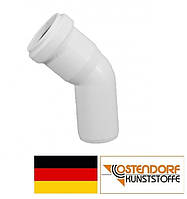 Колено PP 50 х 45º внутренней канализации (белое) Ostendorf HT Германия