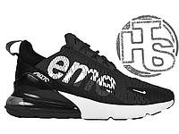 Мужские кроссовки Nike Air Max 270 Flyknit x Supreme Black/White