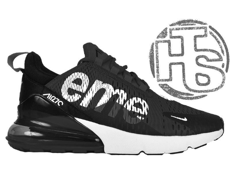 81adfe6e Мужские кроссовки Nike Air Max 270 Flyknit x Supreme Black/White -  Интернет-магазин