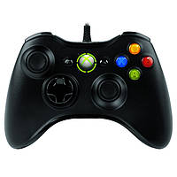 Черный проводной игровой контроллер джойстик джойстик для Xbox 360 USB-порту компьютера
