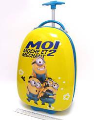 Детский чемодан дорожный на колесах Миньоны -2