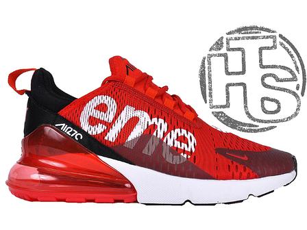 9b625741 Мужские кроссовки Nike Air Max 270 Flyknit x Supreme Red/White, фото 2