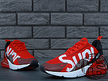 Женские кроссовки реплика Nike Air Max 270 Flyknit x Supreme Red/White, фото 2